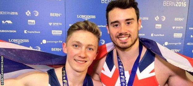 Nile Wilson and Kristian Thomas