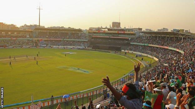 The Sher-e-Bangla Stadium hosted the 2014 World Twenty20 final between India and Sri Lanka