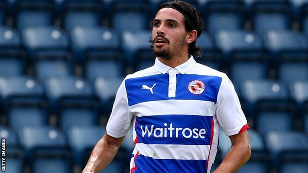 Ryan Edwards in action for Reading