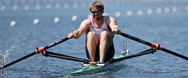 Coleraine's Alan Campbell won bronze in the single scull at London 2012