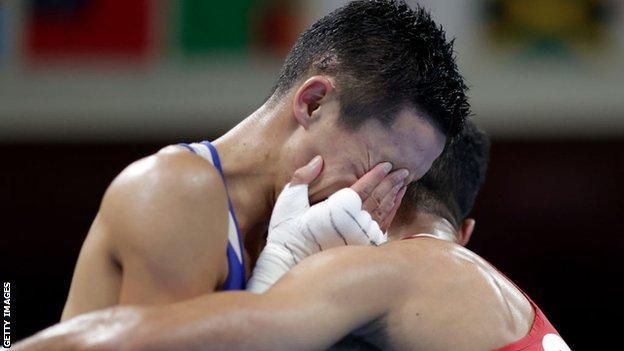 Yafai embraced a heartbroken Bibossinov when the result was read