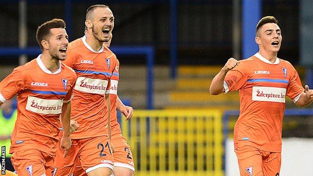Subotica's first-half goal proved decisive and sends them through to the next round