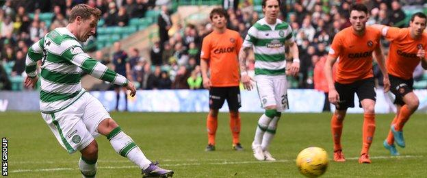 Kris Commons smashes in his first goal from the penalty spot