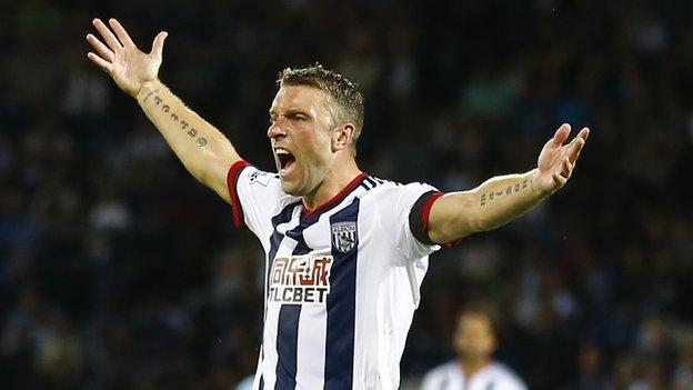 Albion striker Rickie Lambert has a career tally of 236 goals