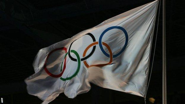 Winter Olympic flag