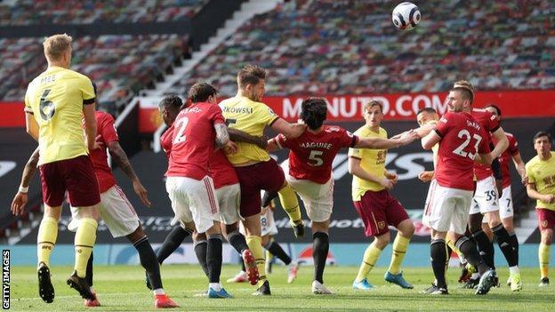 James Tarkowski scored his first Premier League goal of the season