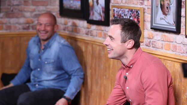 Rory Best and Tommy Bowe share a laugh on new weekly show