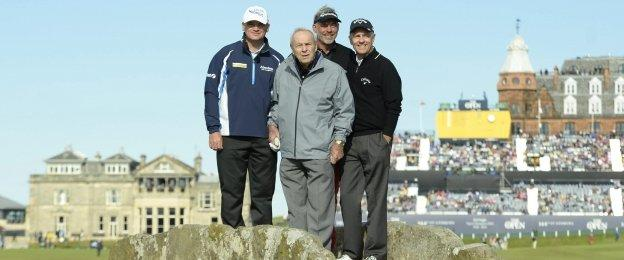 Team Palmer: Paul Lawrie, Arnold Palmer, Darren Clarke and Bill Rogers