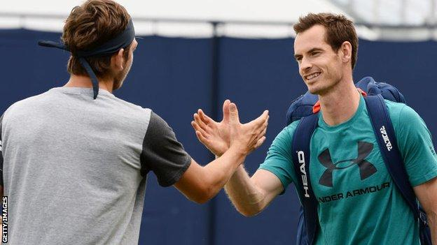 Cameron Norrie and Andy Murray