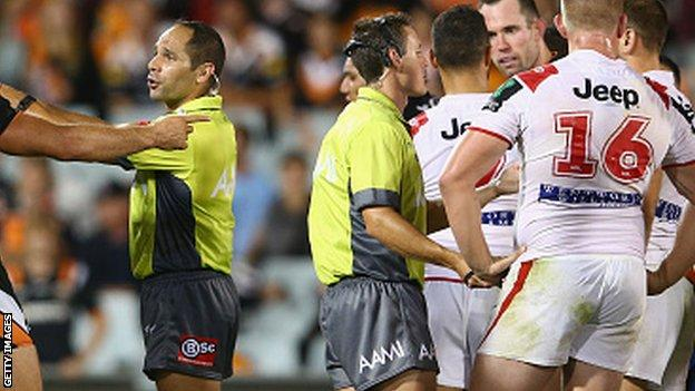 Australia's National Rugby League has used two referees since 2009