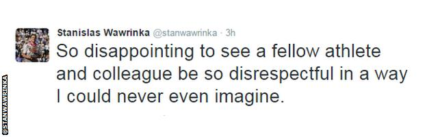 Stan Wawrinka tweet