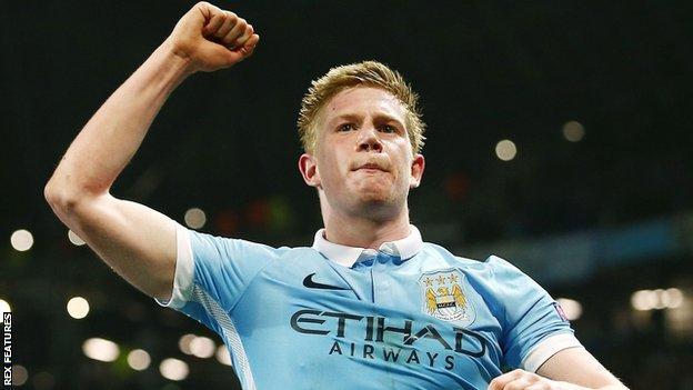 Man City forward Kevin de Bruyne