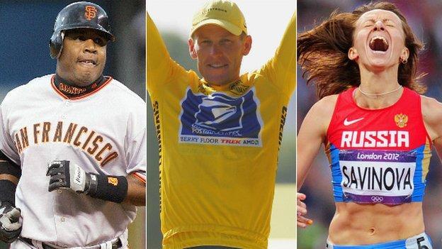 Barry Bond, Lance Armstrong and Mariya Savinova
