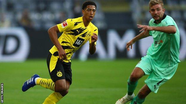 Jude Bellingham on his Borussia Dortmund debut