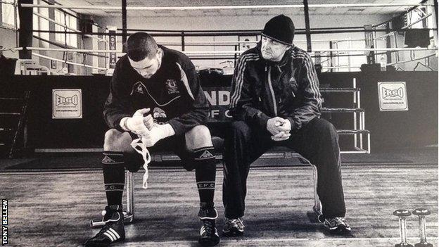 Tony Bellew and his dad