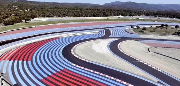 An aerial view of the 2018 Circuit Paul Ricard