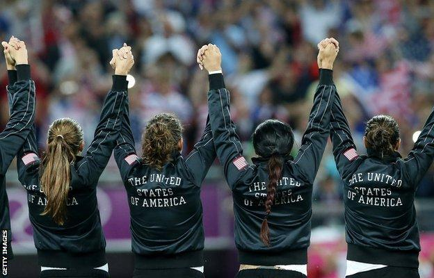 The USA women's soccer team
