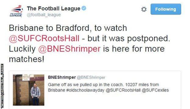 Football League tweet