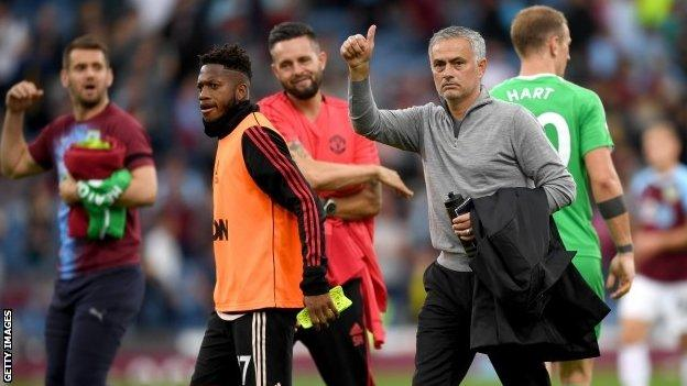 Jose Mourinho Comes Up Smiling As Manchester United Beat Burnley Bbc Sport