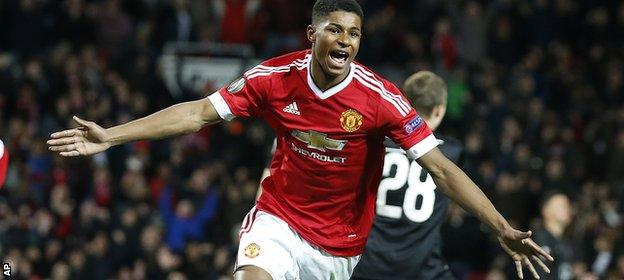 Rashford, 18, scored four goals in his first two United games