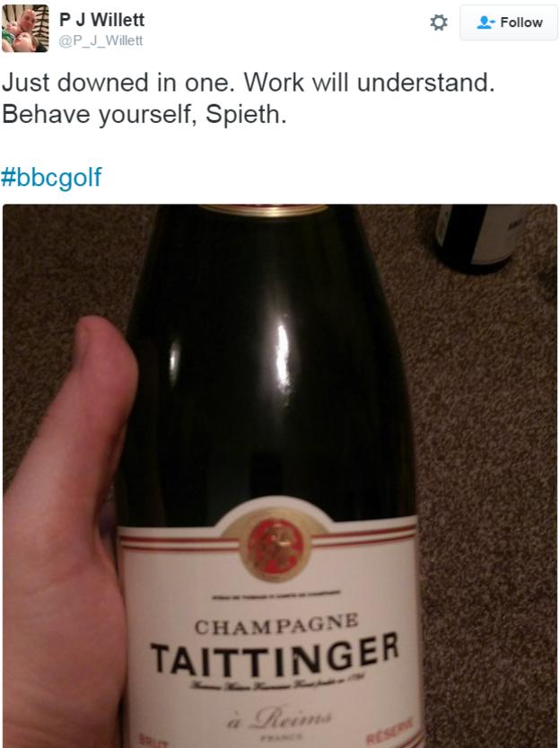 A photo of a bottle of champagne
