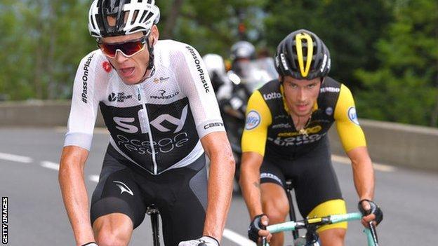 Primoz Roglic and Chris Froome