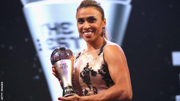Marta at the Best Fifa Awards in 2018
