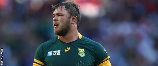South Africa back-row forward Duane Vermeulen