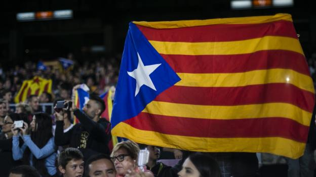 Catalan Football Federation suspends matches after separatist leaders jailed