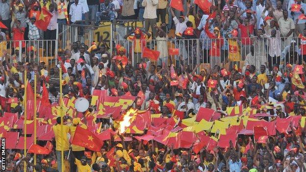 Fans of Sudanese club Al Merreikh