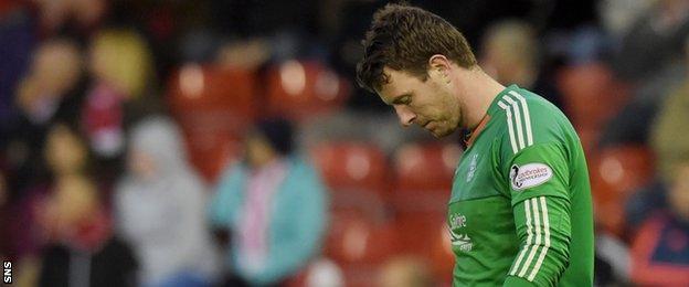 Aberdeen goalkeeper Adam Collin