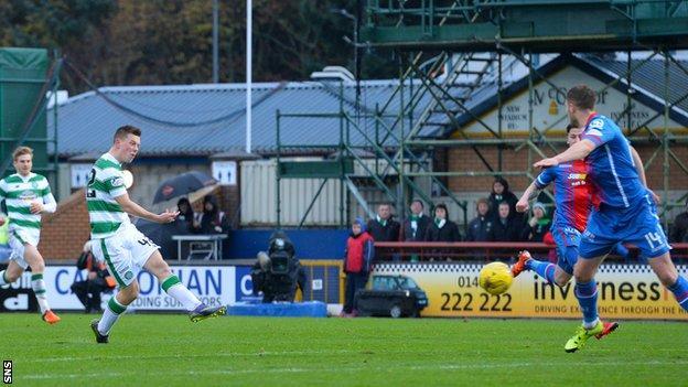 Callum McGregor scores for Celtic against Inverness Caledonian Thistle