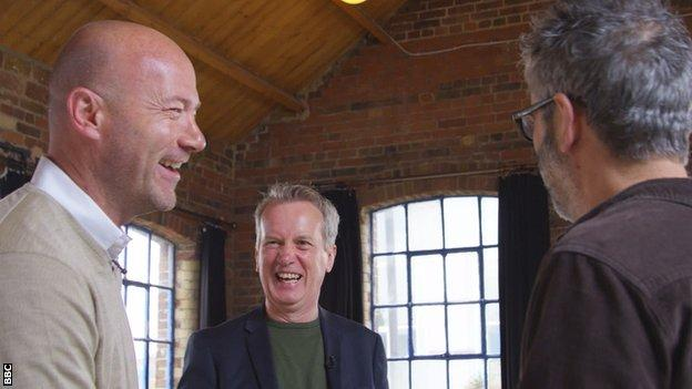 Alan Shearer, Frank Skinner and David Baddiel