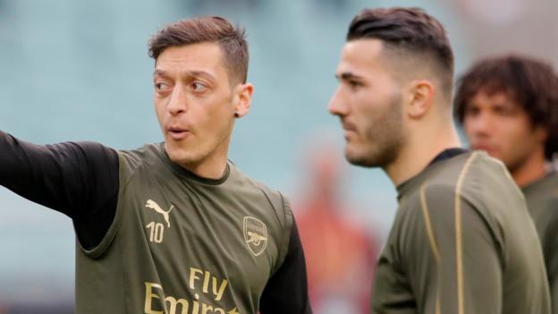 Mesut Ozil and Sead Kolasinac out of Arsenal's Newcastle trip over security fears