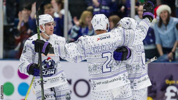 Glasgow Clan showcased their Christmas jerseys and defeated Sheffield Steelers 6-3 on Sunday (