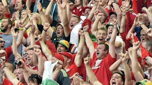 Wales fans in Bordeaux