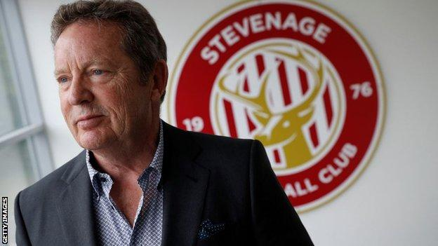 Stevenage owner Phil Wallace
