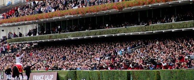 Racegoers at Longchamp salute Treve