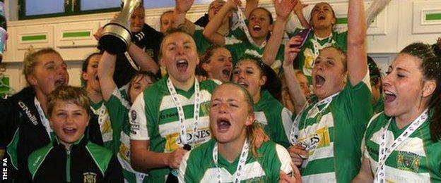Yeovil Town Ladies celebrate