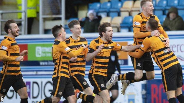 Alloa battled back from 4-2 down to earn a point