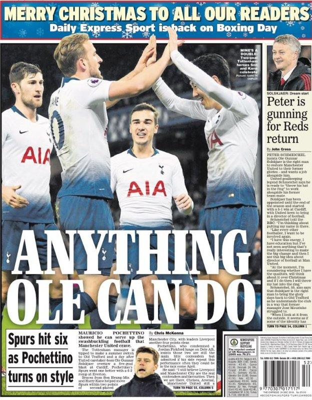 Monday's Daily Express back page