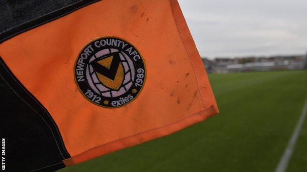 Newport County corner flag