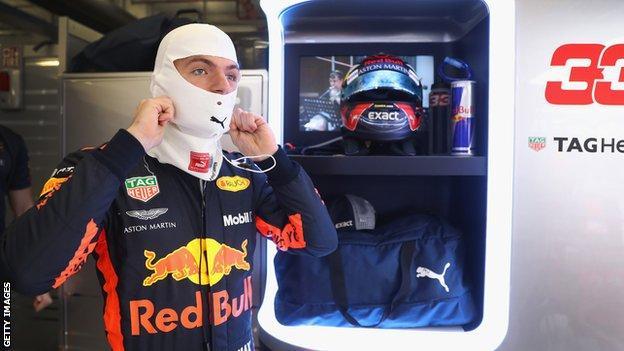 Red Bull driver Verstappen