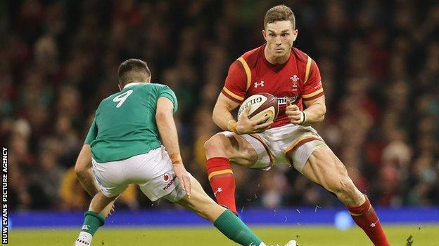 George North takes on Conor Murray of Ireland during the 2017 Six Nations