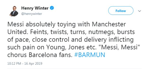 Henry Winter tweet