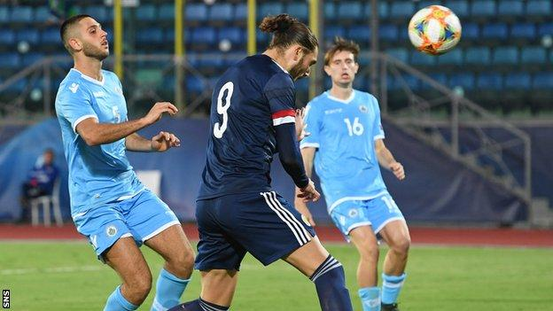 Fraser Hornby took his tally to 10 goals in 17 Scotland Under-21 appearances