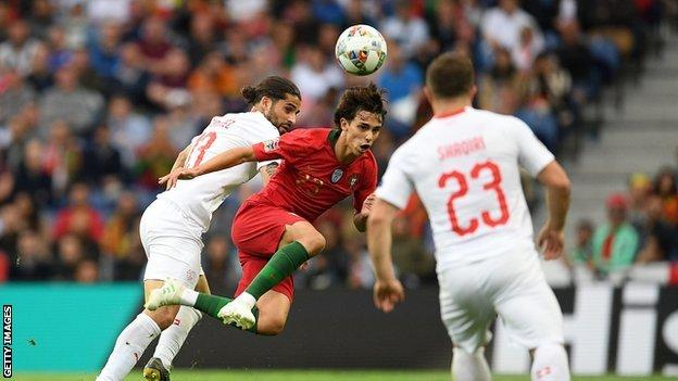 Felix has played once for Portugal