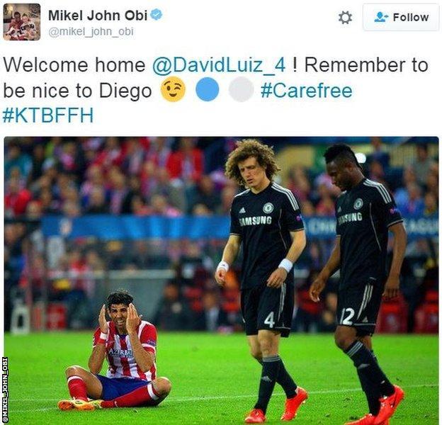 John Obi Mikel tweet
