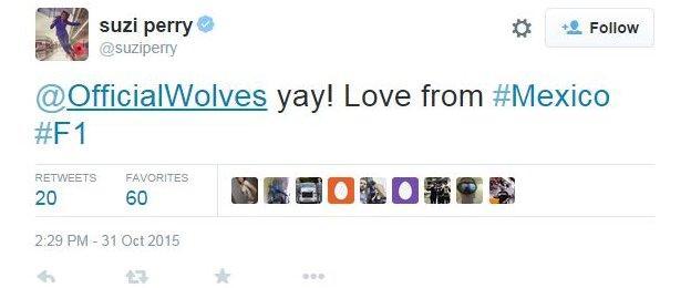 Suzi Perry tweet