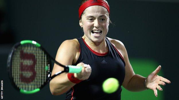 French Open champion Jelena Ostapenko reaches Miami Open final